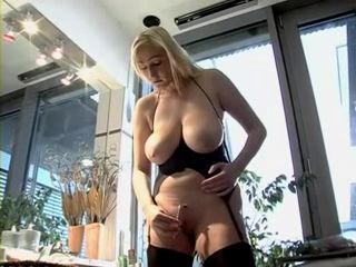 Busty Blonde Milf Gets Hard Fuck For Her Just Shaved Pussy