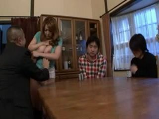 Father Humiliates Mother Yumi Kazama Infront Of Embarrassed Sons
