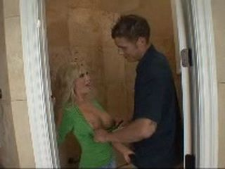 Young Plumber Fucks Tiny Busty Milf Diamond Foxxx In The Toilet