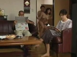 Shameless Busty Milf An Mitsuki In Visit at Parents Home With Her New Husband