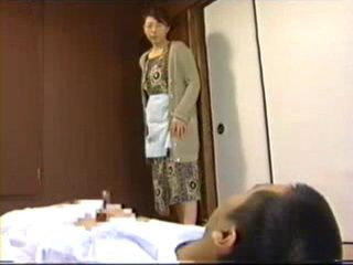 Japanese Mother Busted Son Masturbating In His Room and Starts
