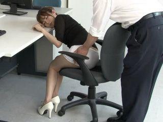Secretary Miku Ohashi In Nylons Gets Proper Punishment For Sleeping at Work