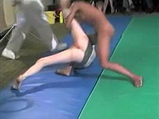 Girl Nude Judo Fight