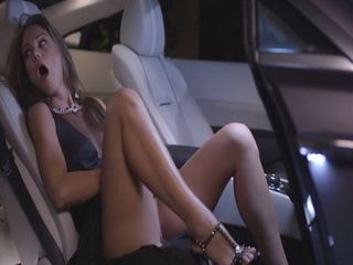 Hot Stunning Babe Caught Masturbating In Fancy Expencive Car