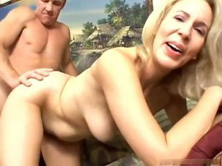Mature MILF Takes A Cock Up Her Ass With A Smile On Her Face