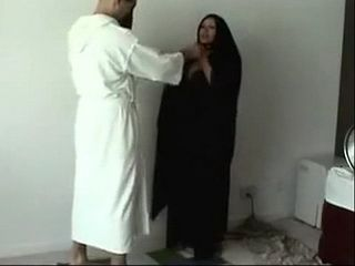 This Black Fabric Hides Hot Arab MILF Footjob Expert