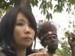African tribe leader fucks asian reporter uncensored