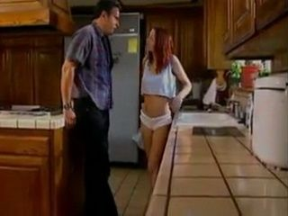 Teen Surprised Daddys Best Friend Half Naked In The KItchen