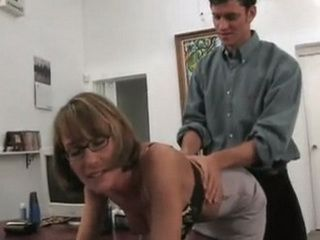 Young Boss Fucked His Naughty Mature Secretary Very Hard In The Office