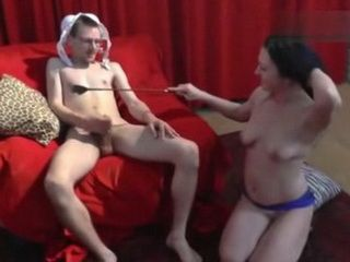 Virgin Nerd Filmed Having His Very First MILF Erotic Stripshow