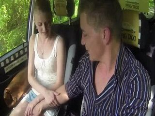 Horny Taxi Driver Turn Off The Road And Fucked Sexy Blonde Customer In The Woods