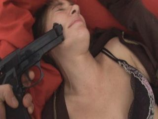 College Girl Force Fucked Under Gun Treat By Ex Boyfriend And His Buddy