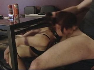 Submissive Slutwife Nasty Blowjob Under The Dinning Table