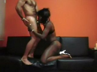 Dancing African Booty Girl Wearing Heels Deep Throated And Fucked Hard By White Guy