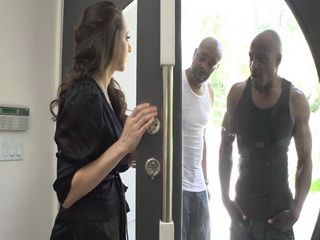 Hot Wife Got Sudden Visit By 2 Black Husbands Friends While He Was On Business Meeting