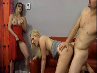 Kinky Wife Masturbating While Husband Banging Her Best Friend
