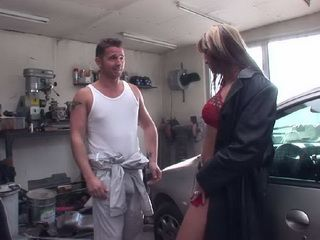 Dirty Slut Will Do Anything Just Not To Pay In Cash For Her Car Repair