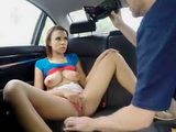 Stranded Raven Redmond pussy worked over in the car