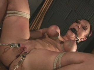 Her Boobs and Legs Are Tied And Her Pussy Gets Teased With In Many Ways