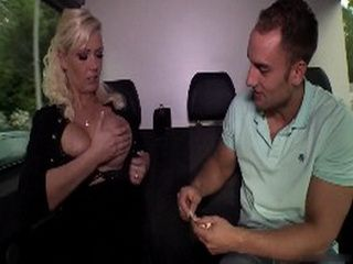 Greedy Busty Blonde Vivian Would Do Anything For Money