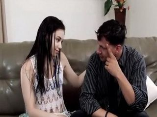 Sneaky Stepdaughter Knows The Best Way To Help Her Intent Stepfather To Reduce Tension