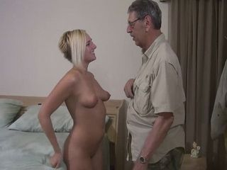 Old Geek Dont Need Viagra To Fuck Fresh Teen Pussy