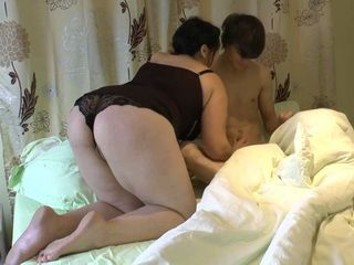 Chubby Stepsis With Desperate For Cock Snuk Into Young Stepbrothers Bed And Seduce Him To Fuck