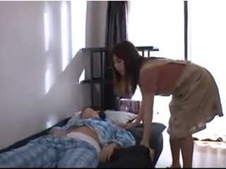Lascivious Japanese Mom Fucks Her Son While He Was In A Deep Sleep