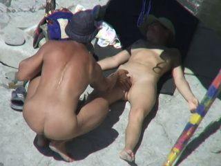 Voyeur Busted Kinky Hubby Drilling Wifes Dripping Wet Pussy On The Beach