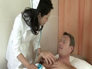 Smilling Nice Japanese Nurse Will Help This Guy To Get Well Without Any Medication
