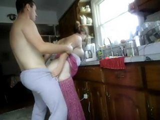 Chubby Amateur Wife Quickie Fucked In The Kitchen While Making Breakfast
