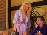 Big Boobs Stepmom Invites Stepson Friend