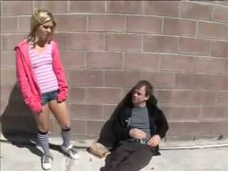 Human Girl Picked Up Homeless From The Street And Gave Him Her Pussy For Meal