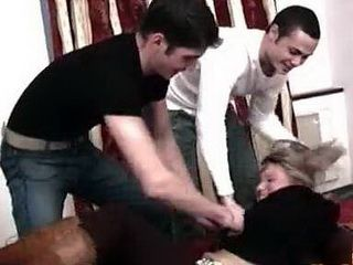 Molested Stepsister Did Not Expect This Torment From Her Stepbrother And His Friend