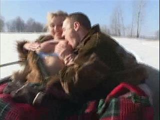 Big Tits Girl Fucks Her Lover In Open Air