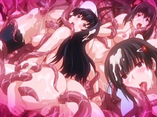 Japanese coeds anime group tentacles sex