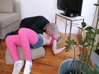 Teen Girl Has Defeated By Old Pervert Guy After Having A Few Drinks At His Place