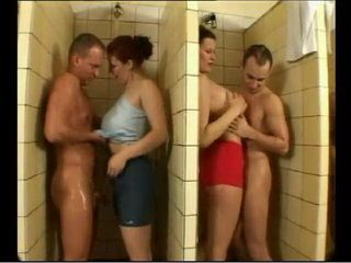 Horny Milfs Get In Men Locker Room And Have An Orgy