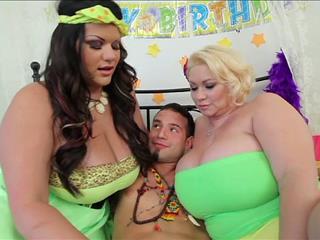 Lucky Fan Fucks 2 Hot Huge Tits Pornstar