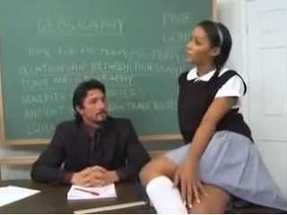 Cute Ebony Girl Wants Much More From Her Hot Professor
