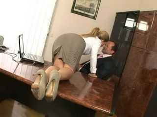 Filthy Secretary Got Her Qualifications On The Office Table