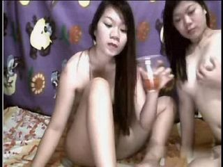 Real Filipina Sisters Mary and Grace Drink Pee and Play on Cam