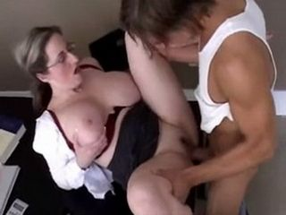 Busty Teacher Gets Fucked On Her Desk By Horny Student