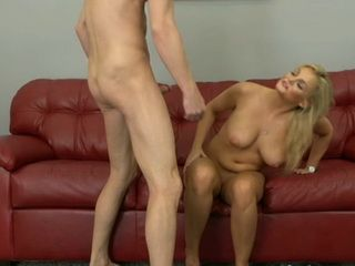 Hot blond milf fucks her horny neighbor