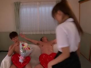 Asian Schoolgirl Loves To Be In Threesome And Creampied - Mayu Nozomi