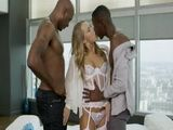 Lonely Slutty Wife Living In A Amazing Big Penthause Cheating Her Husband With Two BBC