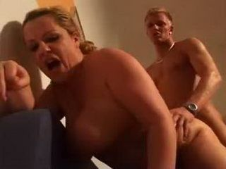 German Busty Milf Surprised Young Boy With Her Fucking Skills