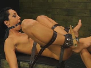 Petite babe Sabrina Banks gets tied and abused by tattooed guy