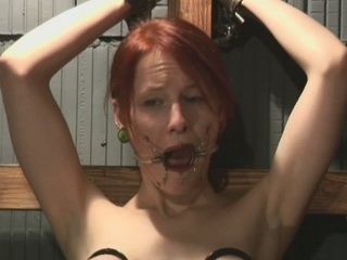 Redhead Endures Real Moments Of Rough Bondage Porn Stimulation
