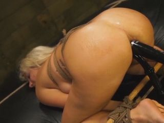 Hot blonde babe Layla Pryce was punished and bondaged by her boyfriend